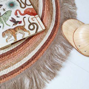 Rond vloerkleed Jute Tess Rust van Tapis Petit - My Little Carpet