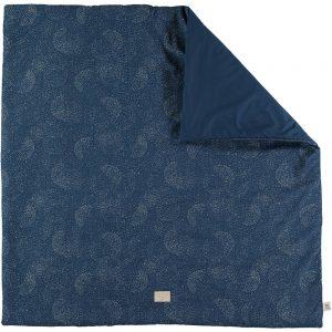 Speelkleed Colorado, Gold Bubble Night Blue van Nobodinoz - My Little Carpet