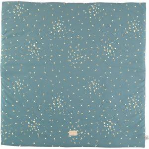 Speelkleed Colorado, Gold Confetti Magic Green van Nobodinoz - My Little Carpet