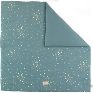 Speelkleed Colorado, Gold Confetti Magic Green van Nobodinoz - My Little Carpet