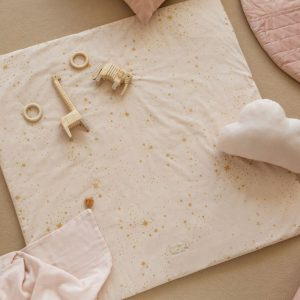 Speelkleed Colorado, Gold Stella Dream Pink van Nobodinoz - My Little Carpet