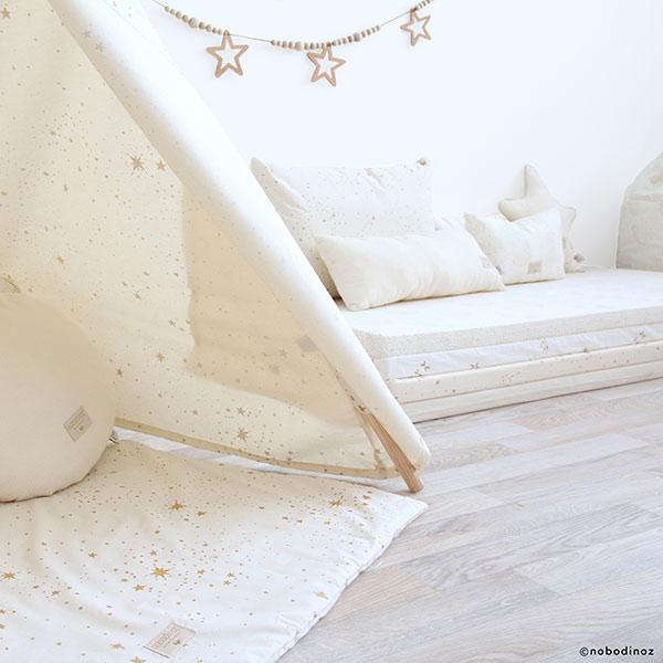 Speelkleed Colorado, Gold Stella Natural van Nobodinoz - My Little Carpet