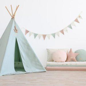 Speelkleed Colorado, White Bubble Aqua van Nobodinoz - My Little Carpet