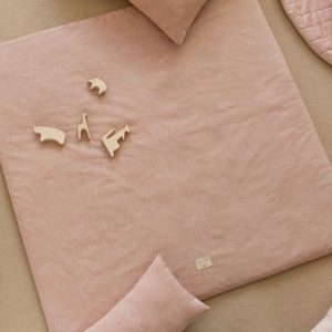Speelkleed Colorado, White Bubble Misty Pink van Nobodinoz - My Little Carpet