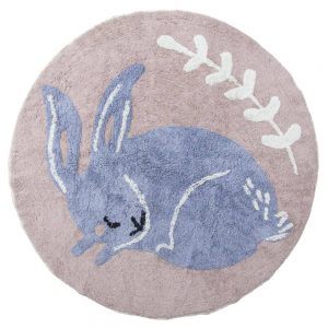 Vloerkleed Bluebell the Bunny van Sebra - My Little Carpet
