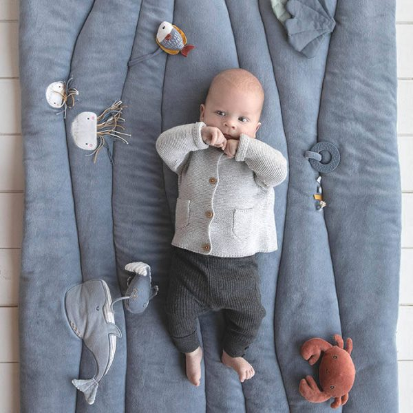 Baby Boxkleed / Speelkleed, Ocean Blue van Little Dutch - My Little Carpet