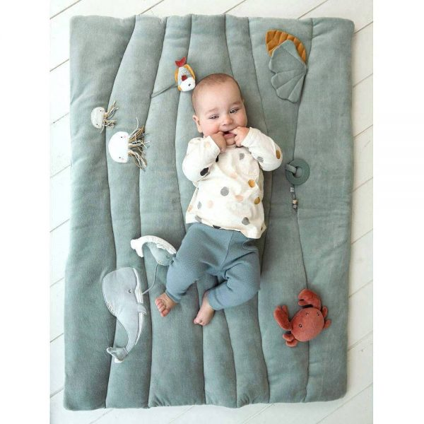 Baby Boxkleed / Speelkleed, Ocean Mint van Little Dutch - My Little Carpet