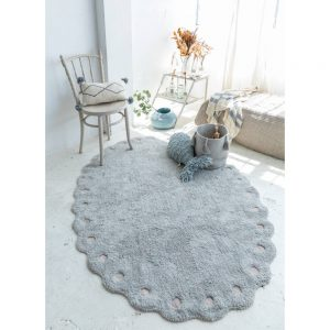 Vloerkleed Picone Pearl Blue van Lorena Canals - My Little Carpet