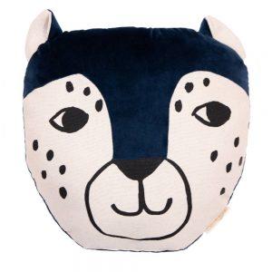 Dieren Kussen Leopard Night Blue van Nobodinoz - My Little Carpet