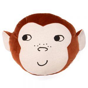 Dieren Kussen Monkey Wild Brown van Nobodinoz - My Little Carpet