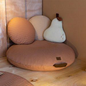 Fruit Kussen Pear Cream van Nobodinoz - My Little Carpet