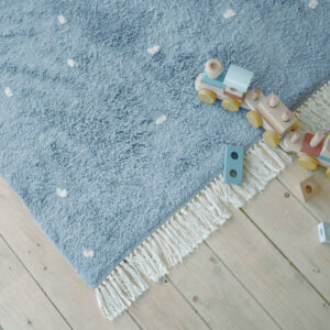 Vloerkleed Dot Pure Blue van Little Dutch - My Little Carpet