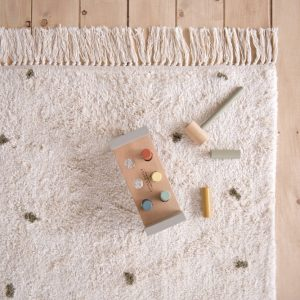 Vloerkleed Dot Pure Natural/Olive van Little Dutch - My Little Carpet