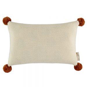 Kussen So Natural Knitted Natural van Nobodinoz - My Little Carpet