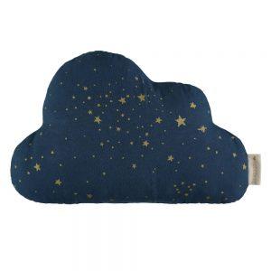 Cloud Wolk Kussen Gold Stella Midnight (Night) Blue van Nobodinoz - My Little Carpet