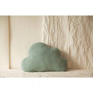 Cloud Wolk Kussen Toffee Sweet Dots Eden Green van Nobodinoz - My Little Carpet