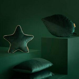 Akamba Velvet Kussen Jungle Green van Nobodinoz - My Little Carpet