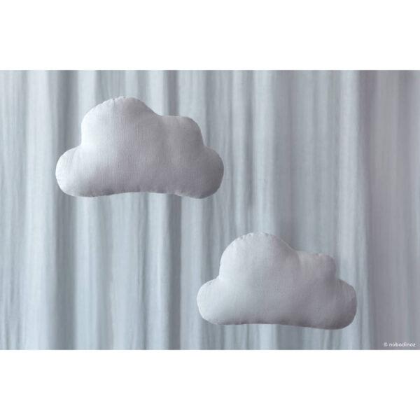 Cloud Wolk Kussen Riviera Blue van Nobodinoz - My Little Carpet