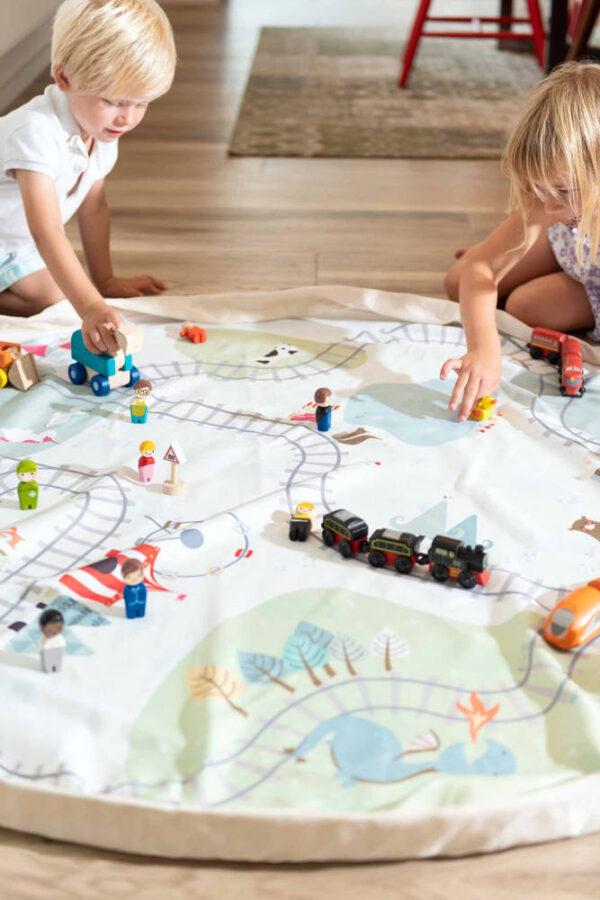 Speelkleed/Opbergzak Trainmap van Play and Go - My Little Carpet