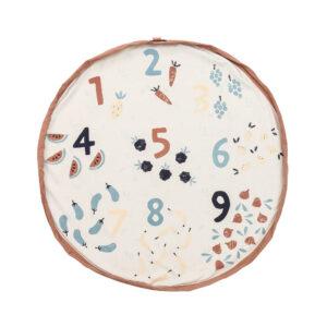 Speelkleed/Opbergzak Veggie Numbers van Play and Go - My Little Carpet