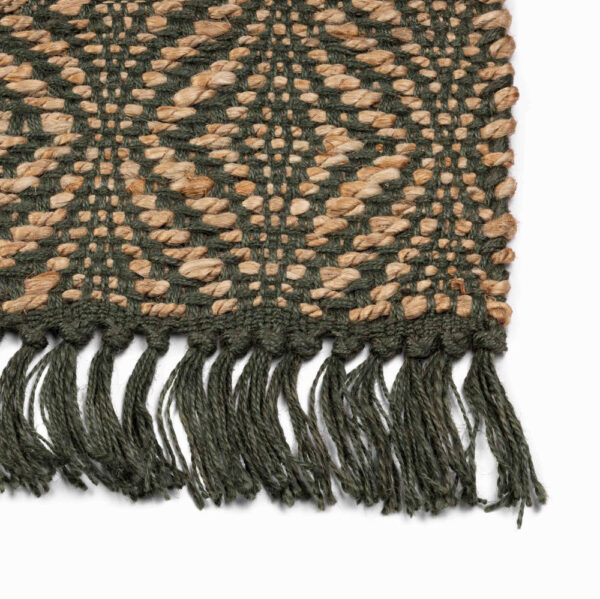 Jute vloerkleed Holly Groen van KidsDepot - My Little Carpet