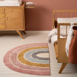 Vloerkleed Rainbow Shape Pink van Little Dutch - My Little Carpet