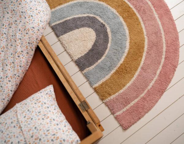 Vloerkleed Rainbow Shape Pink van Little Dutch - My Little Carpet