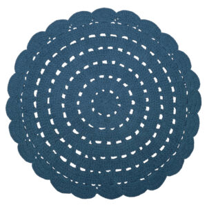 Gehaakt vloerkleed Alma Blue van Nattiot - My Little Carpet