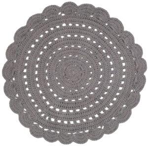 Gehaakt vloerkleed Alma Grey van Nattiot - My Little Carpet