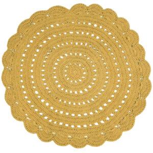 Gehaakt vloerkleed Alma Mango van Nattiot - My Little Carpet