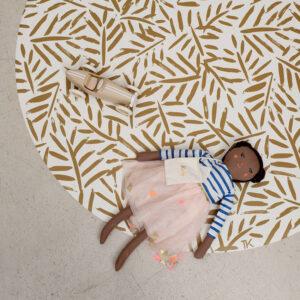 Knoeimat, Clean Wean Mat, Ocean Leaves Sand Castle van Toddlekind - My Little Carpet