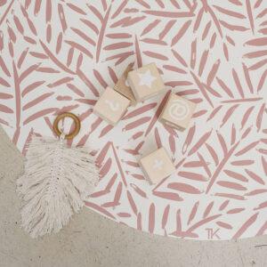 Knoeimat, Clean Wean Mat, Ocean Leaves Sea Shell van Toddlekind - My Little Carpet
