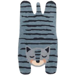 Wollen Vloerkleed Blue Tiger van Nattiot - My Little Carpet