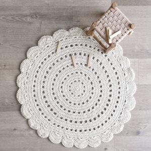 Gehaakt vloerkleed Alma Ecru van Nattiot - My Little Carpet