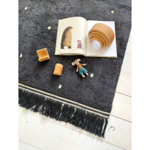Vloerkleed Emily Dot Antracite van Tapis Petit - My Little Carpet