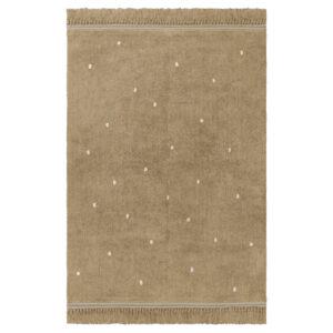 Vloerkleed Emily Dot Warm Beige van Tapis Petit - My Little Carpet